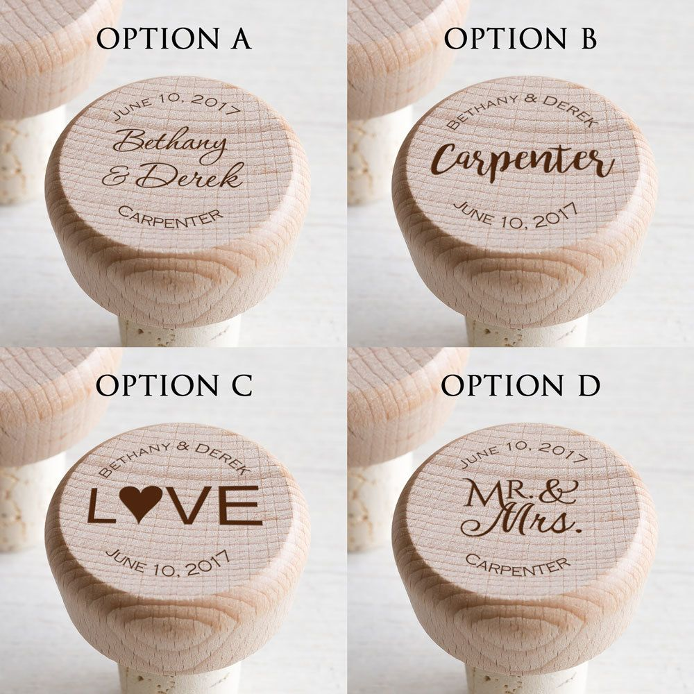 Personalized Wedding Wine Stoppers | Wine stoppers, Personalized ...