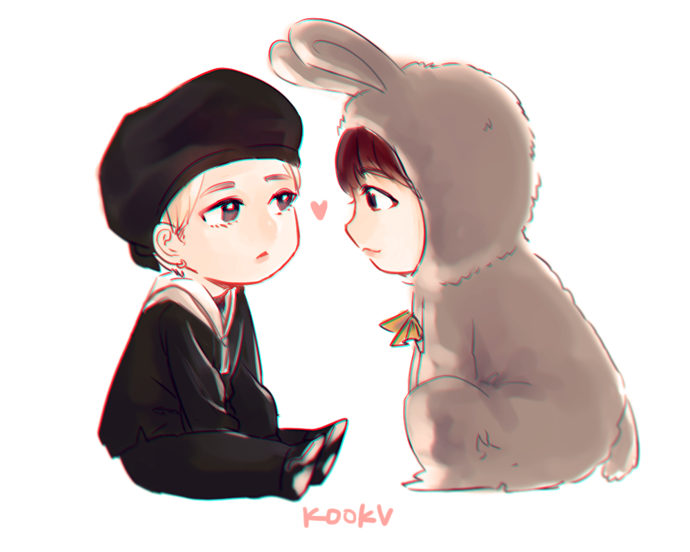 Angels Fly Moon Taekook Chibi