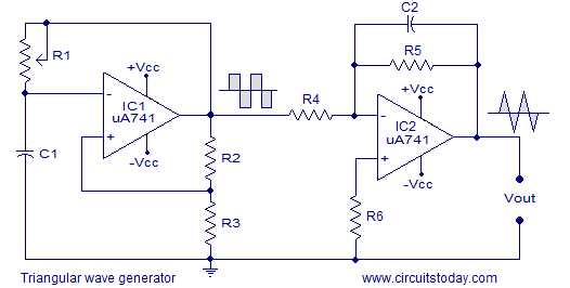 triangular wave generator someday projects in 2019 functiontriangular wave generator triangle wave, function generator, circuit diagram, electrical components, arduino
