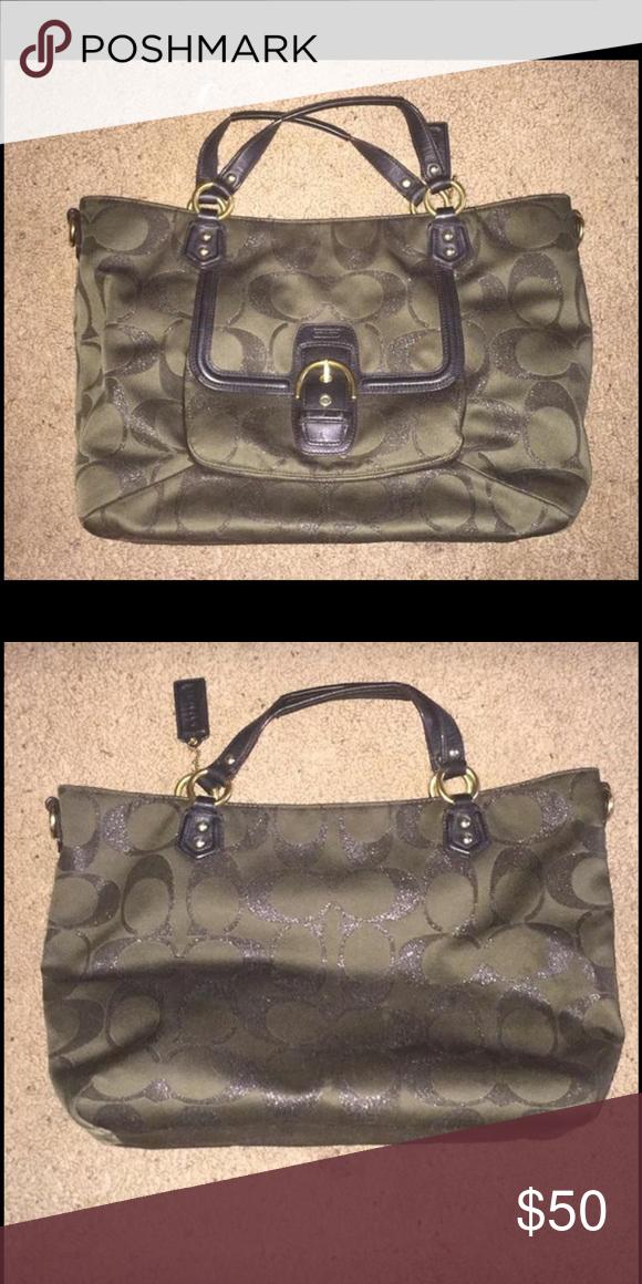 6c2041b9e7 Coach purse Medium  Large dark green Coach purse. Bags Shoulder Bags ...