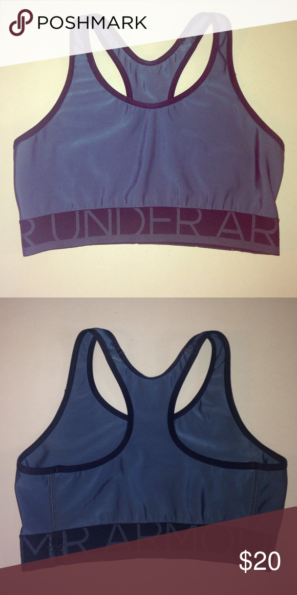 1b7adfca9e873 UNDER ARMOUR Sports bra Gray and black sports bra. Fits comfortable with  elastic band. Under Armour Intimates   Sleepwear Bras