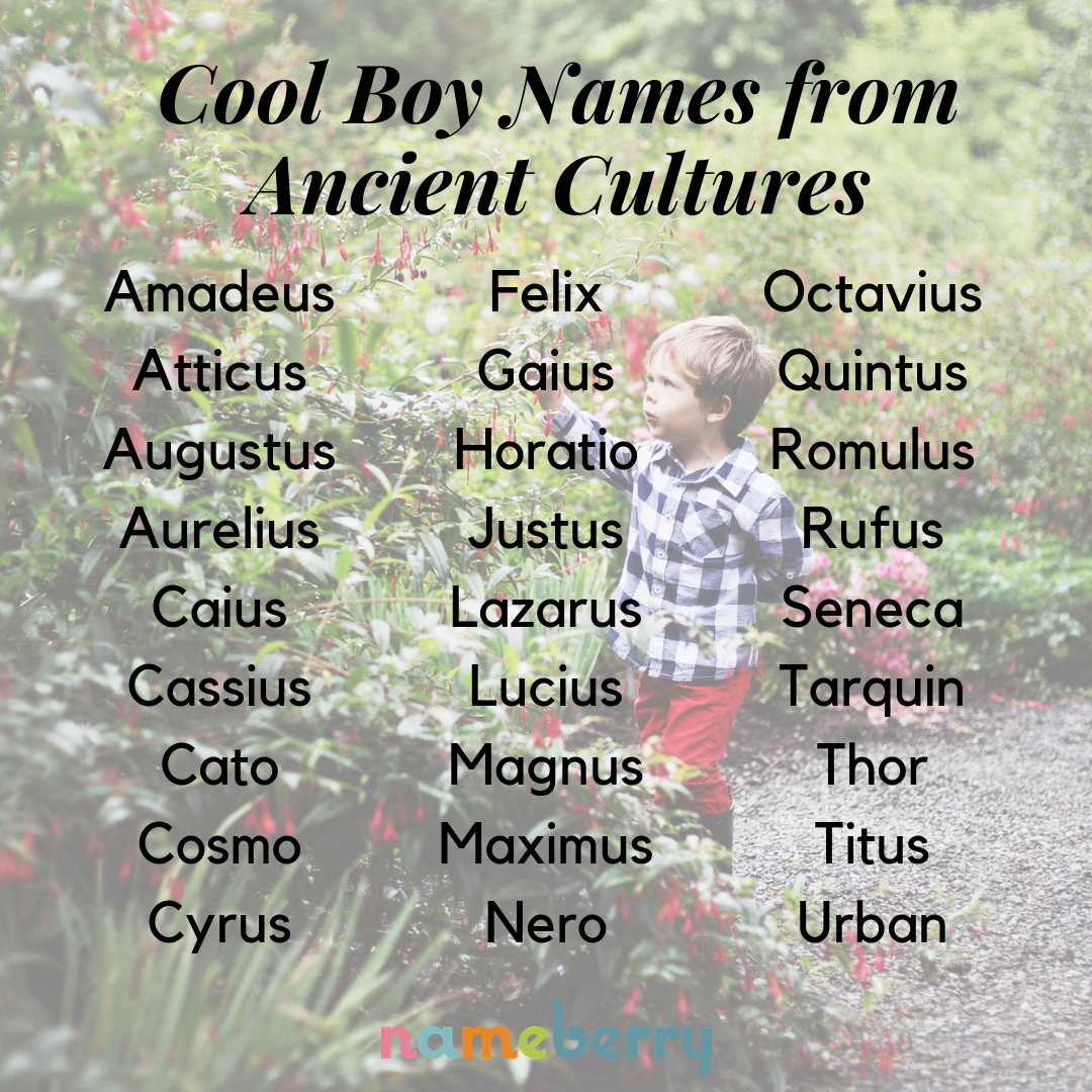 69 Cool Boy Names From Ancient Cultures