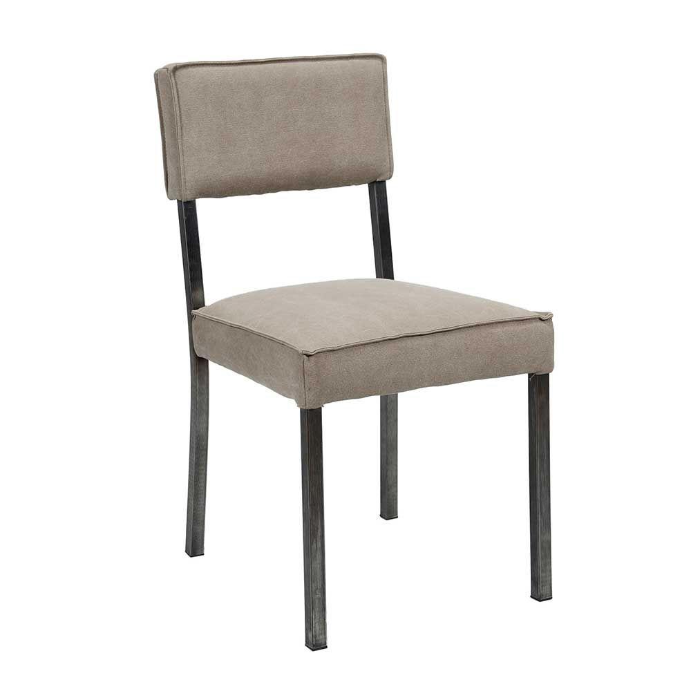 Wunderbar Beige Stühle Referenz Von Stuhl Set In Grau Stoff Edelstahl (2er