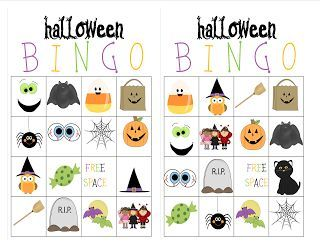 i created some bingo halloween cards it might be fun to do at home with your kids you could also use this in your classroom for a hallowee