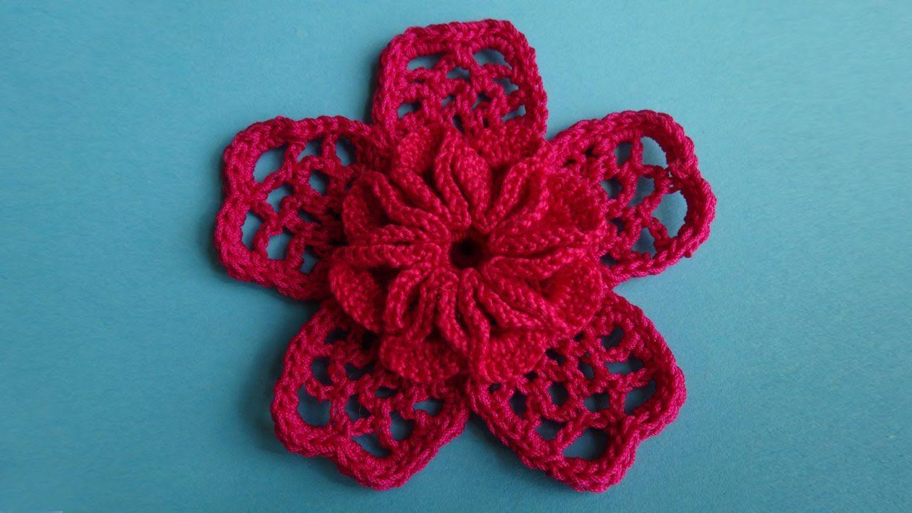 Цветы по ирландии крючком