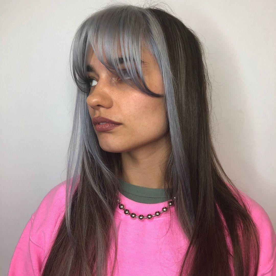 Bangs And Hair Dye Di 2020 Gaya Rambut Terbaru Gaya Rambut Rambut Baru