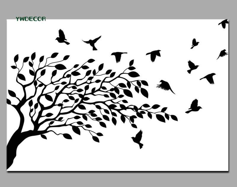 19 Gambar Siluet Pemandangan Hitam Putih Gambar Lukisan Burung Hitam Putih Cikimm Com Download 5o Lukisan Da Bird Silhouette Tree Tattoo Bird Illustration
