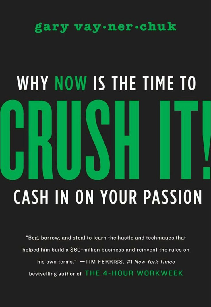 Crush It! Why NOW Is the Time to Cash In on Your Passion  Gary spent years building his family business from a local wine shop into a national industry leader. Then one day he turned on a video camera, and by using the secrets revealed in this book, transformed his entire life and earning potential by building his personal brand.  By the end of this book, any reader will have learned how to harness the power of the Internet #MindsetBook #PersonalDevelopmentBook #NetworkMarketingBooks