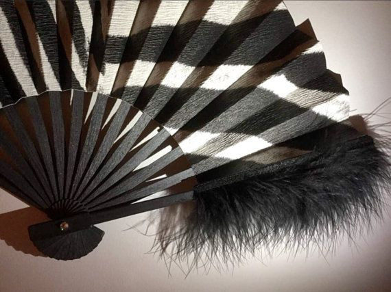 Black Hand fan-EXPRESS delivery 2-3 business days-SAVE on Shipping Free Shipping on Second and Third items in this shop-Handmade!