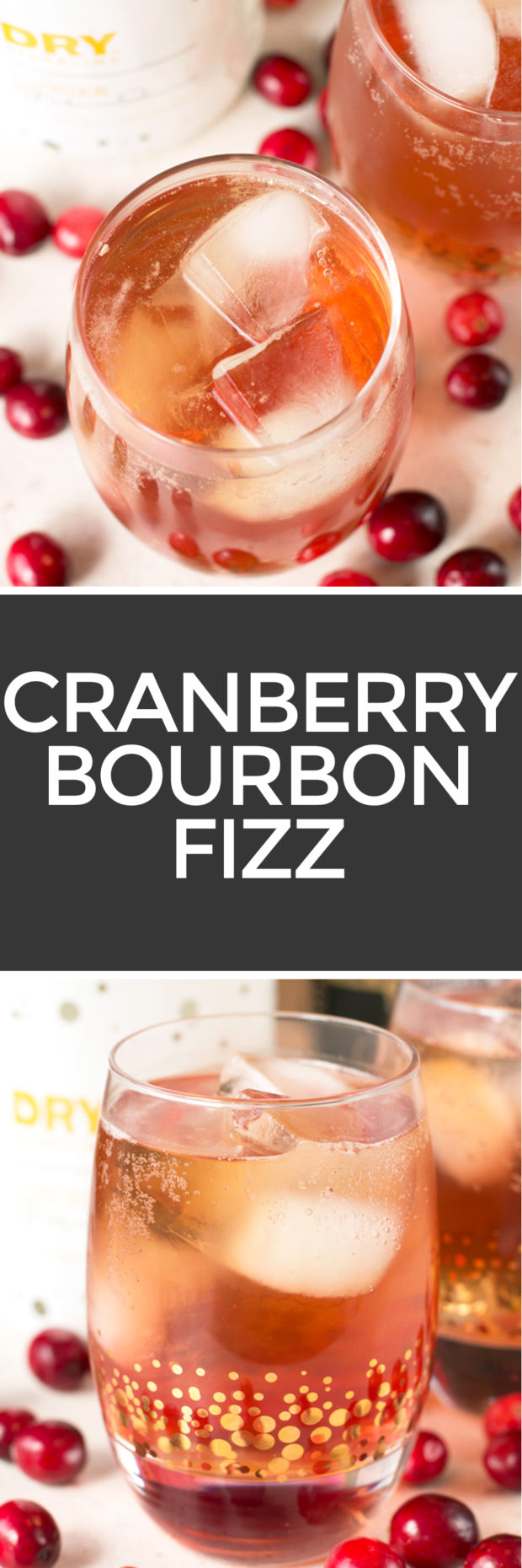 Cranberry Fizz Cocktail Recipe: Cranberry Ginger Bourbon Fizz