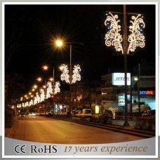 Led System Weihnachtsbeleuchtung.Street Light Pole Mounted Christmas Decorations Outdoor Christmas