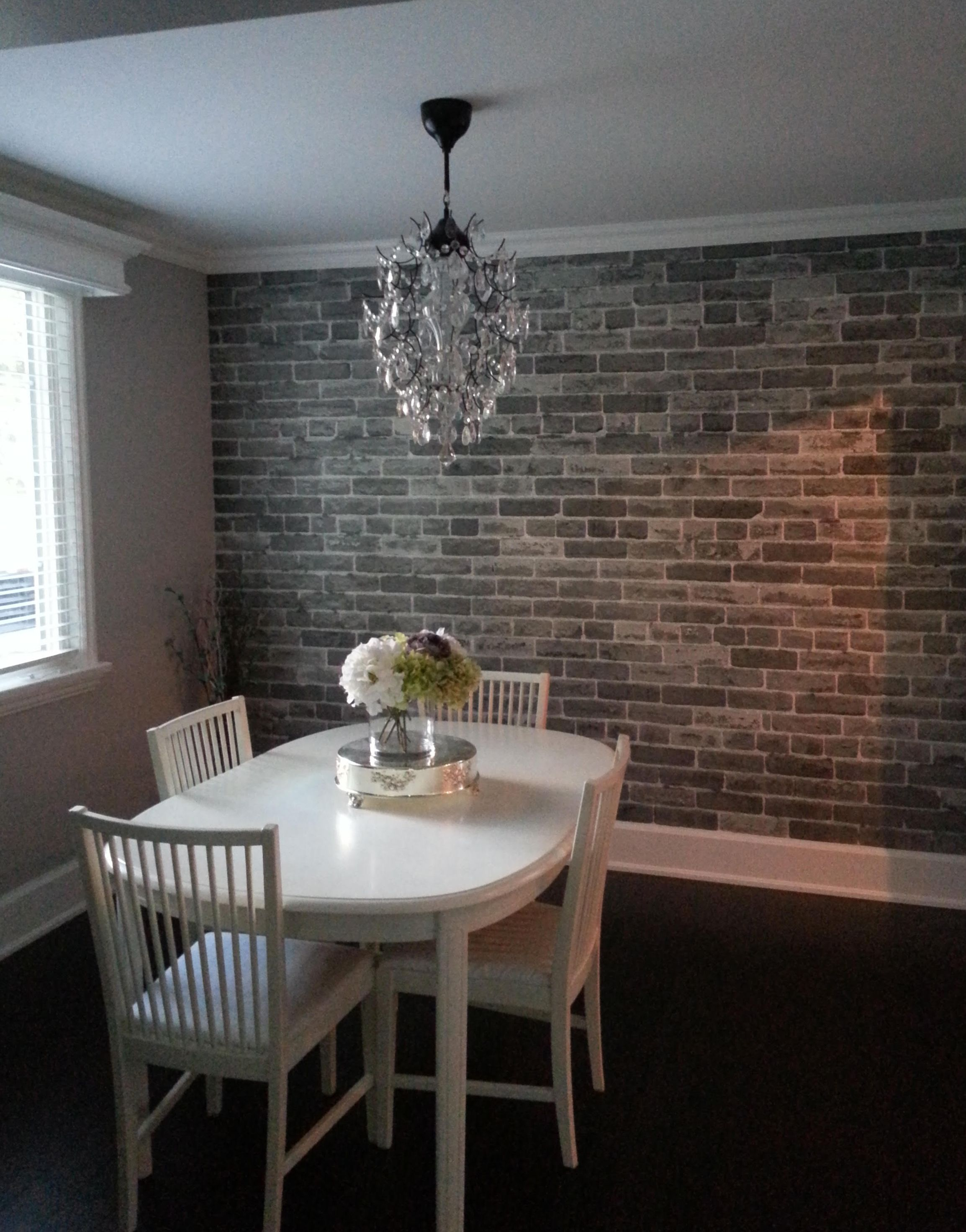 Cindy Kitching Oakville Ontario Brick Wallpaper Living Room