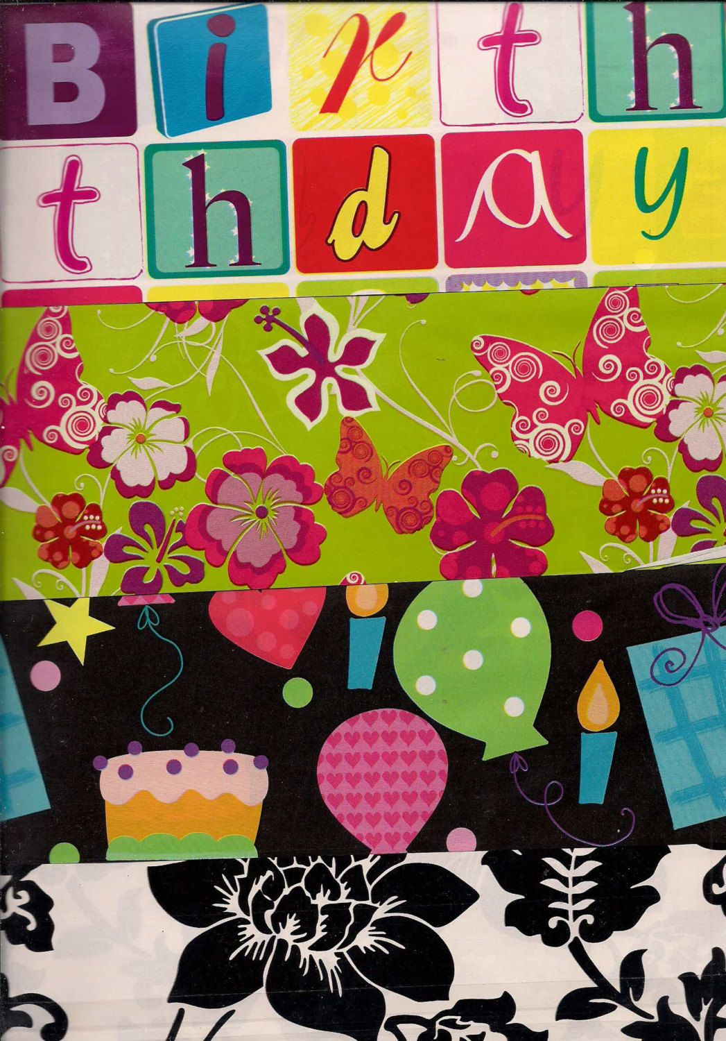 Gift Wrap Flat Wrapping Paper heavy duty assorted designs ...