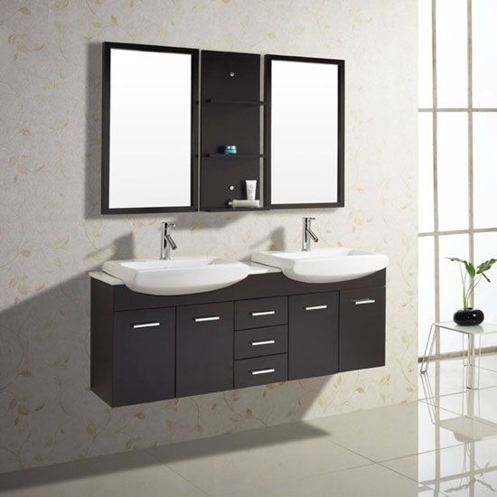 Rubberwood Bathroom Vanities With Sturdy Construction Small