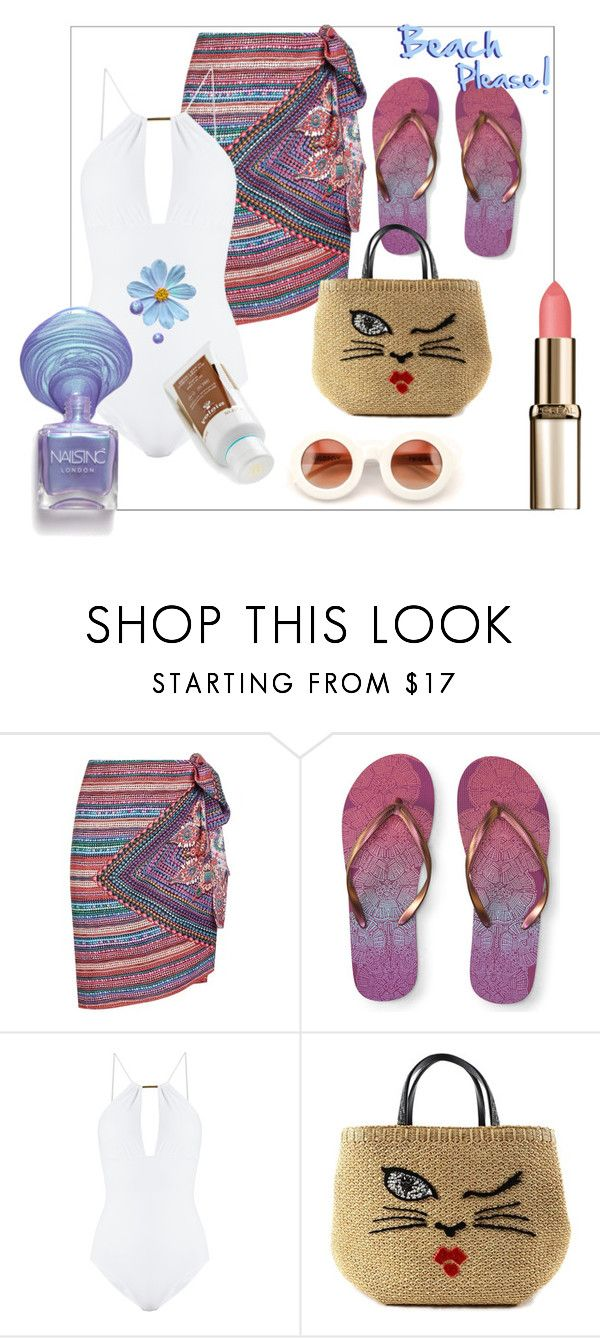 """""""Sin título #287"""" by amaiba ❤ liked on Polyvore featuring Gottex, Aéropostale, Melissa Odabash, Ermanno Scervino and Cada"""
