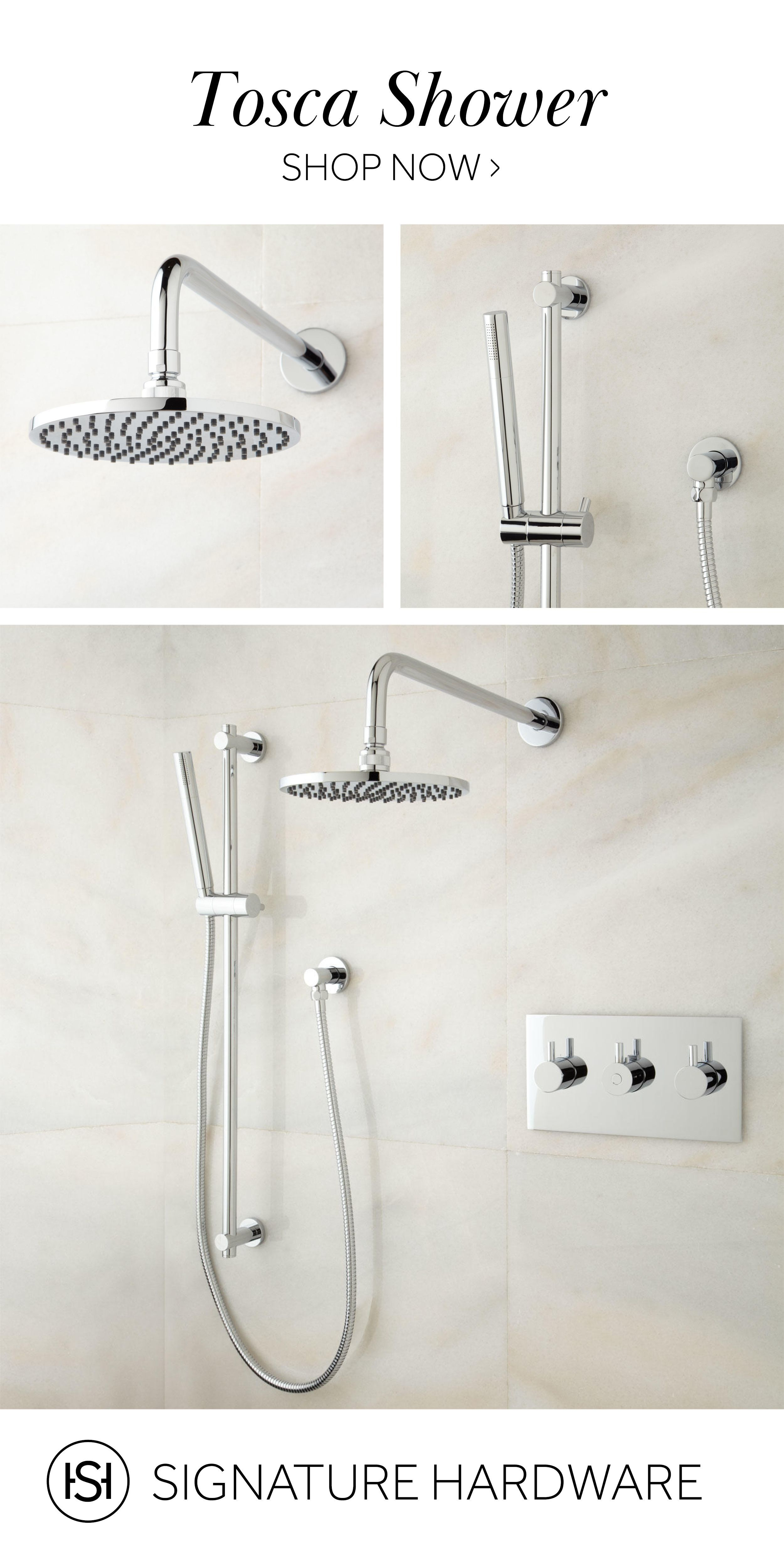 Tosca Thermostatic Shower System With Rainfall Shower And Hand