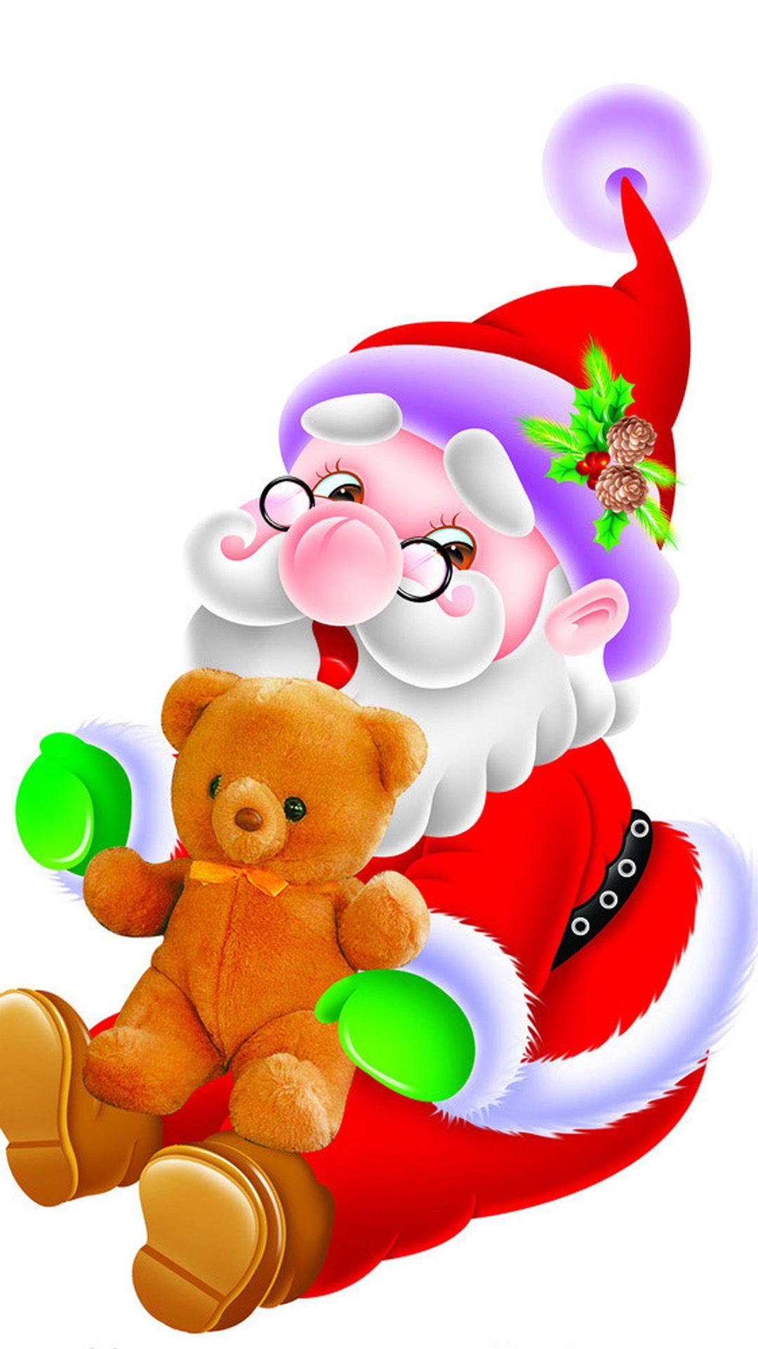 Happy Cute Santa Claus IPhone 6 Wallpaper