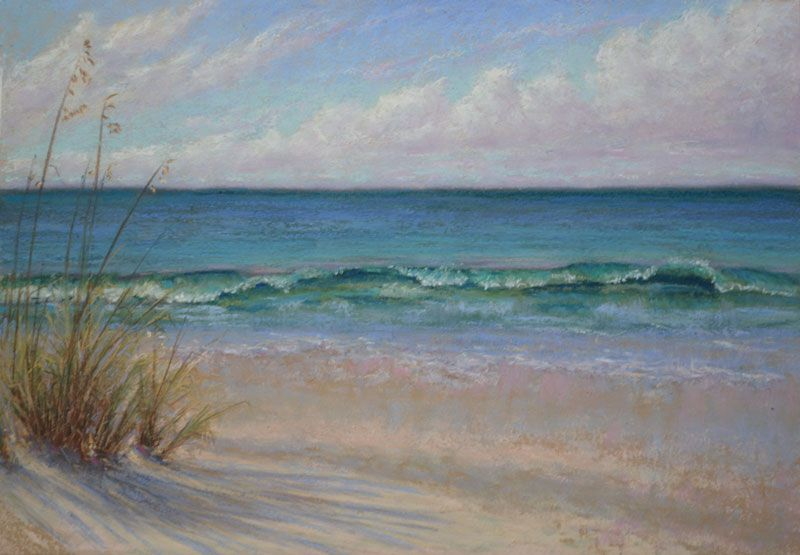 Gulf Coast Seascape Plein Air Reworked A Bit Seascape Decor