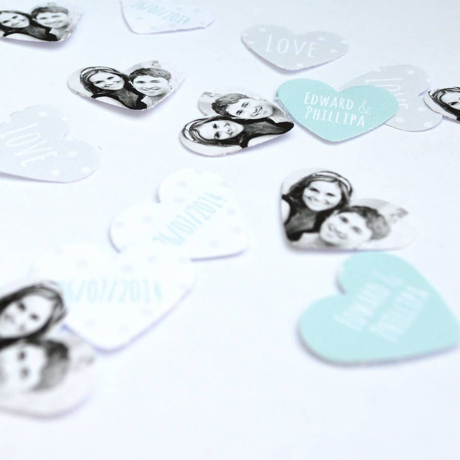 Personalised Photo Wedding Day Party Table Confetti
