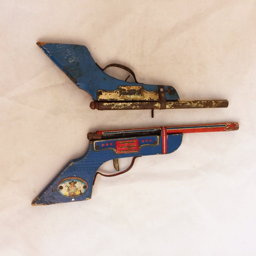 Pair of 1950s Pea Shooter Toy Guns $65   Buy Eclectic Decor