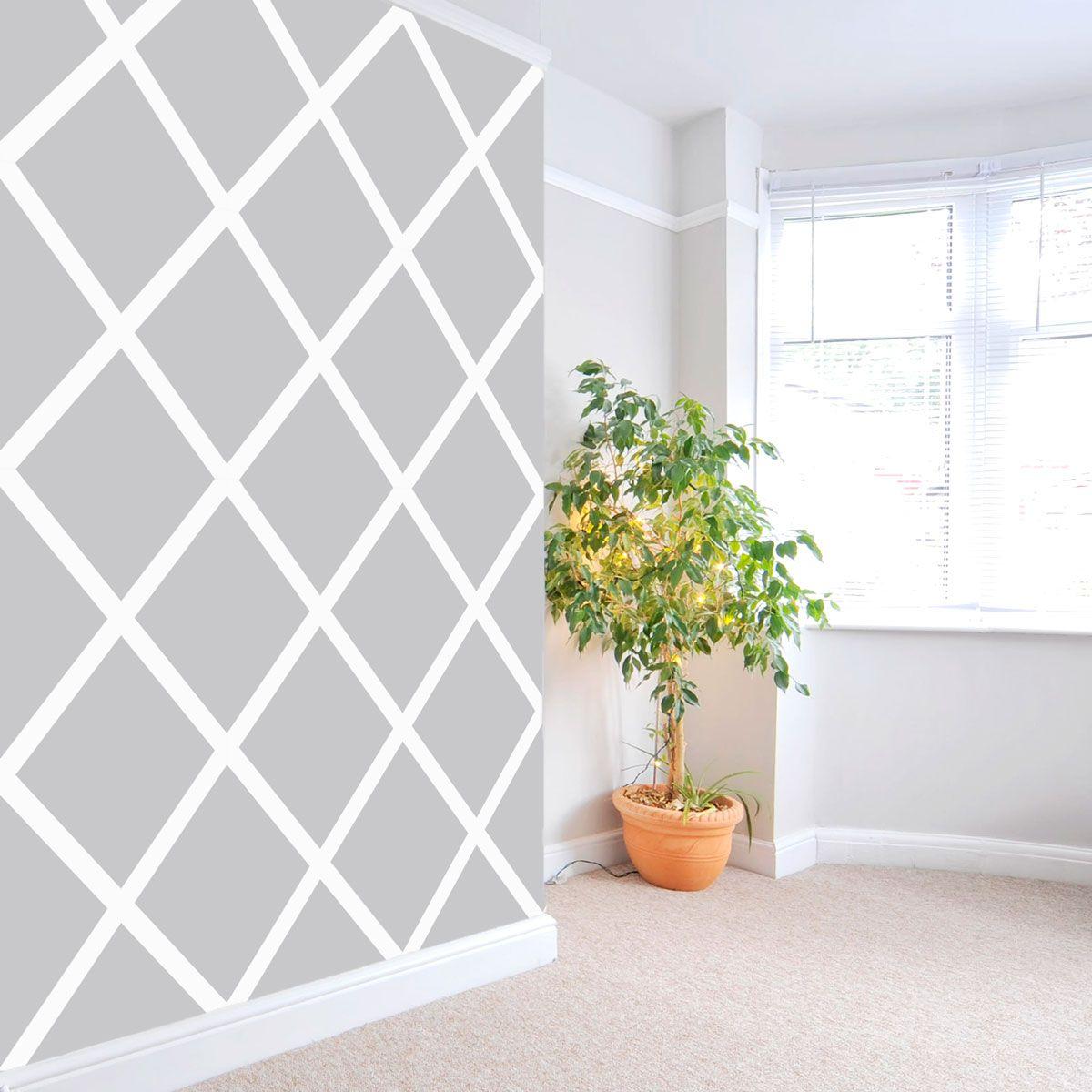 Lattice Removable Wallpaper Tile in 2020 Lattice wall