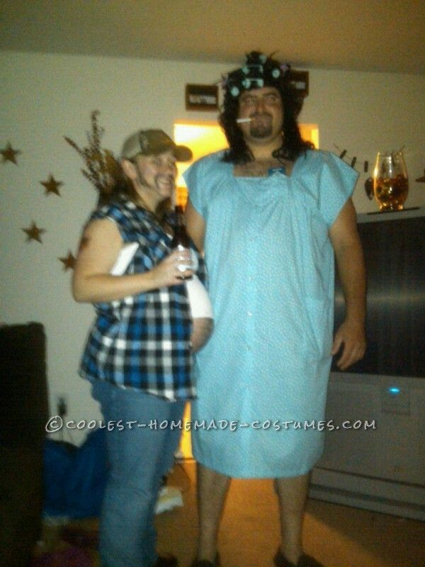 Beer-Belly-Bearded-Man = Cool Pregnant Costume!