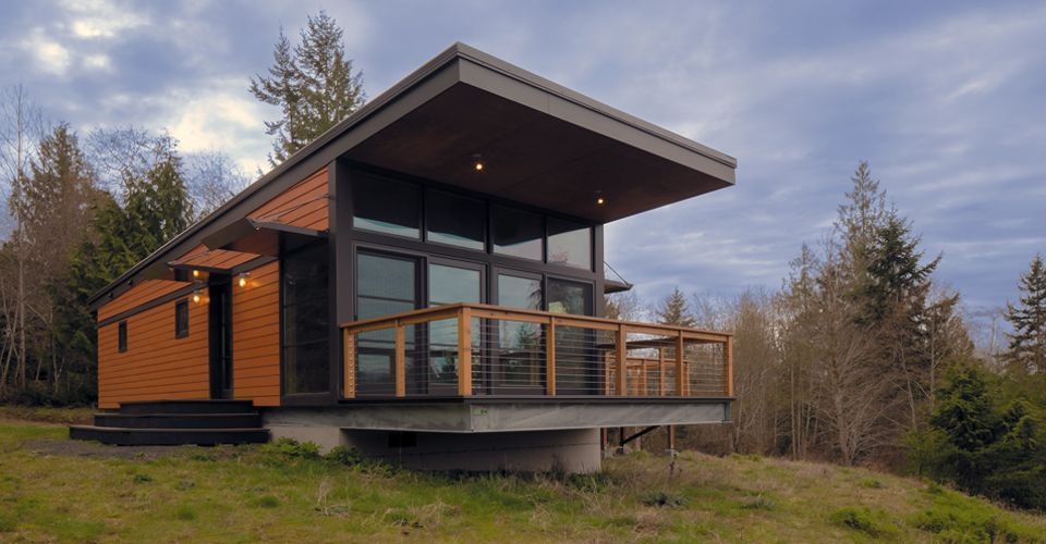 30 beautiful modern prefab homes - Prefab Modern Cabin