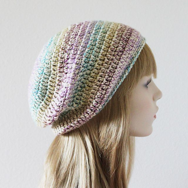 Ravelry Easiest Crochet Slouchy Beanie Ever Pattern By Angela