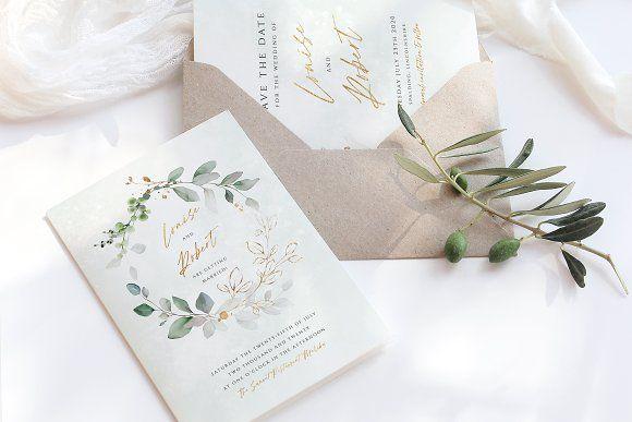 Photo of Eucalyptus Wreath Wedding Suite by R Whitehurst Design on Creative Market