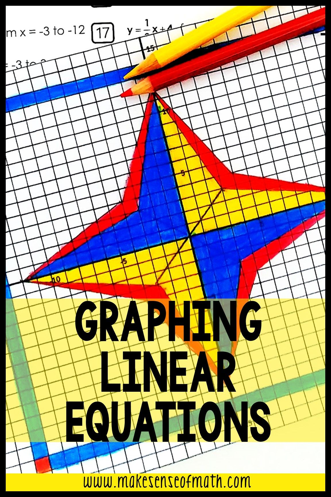 Graphing Linear Equations Activity Graphing Art Bundle In