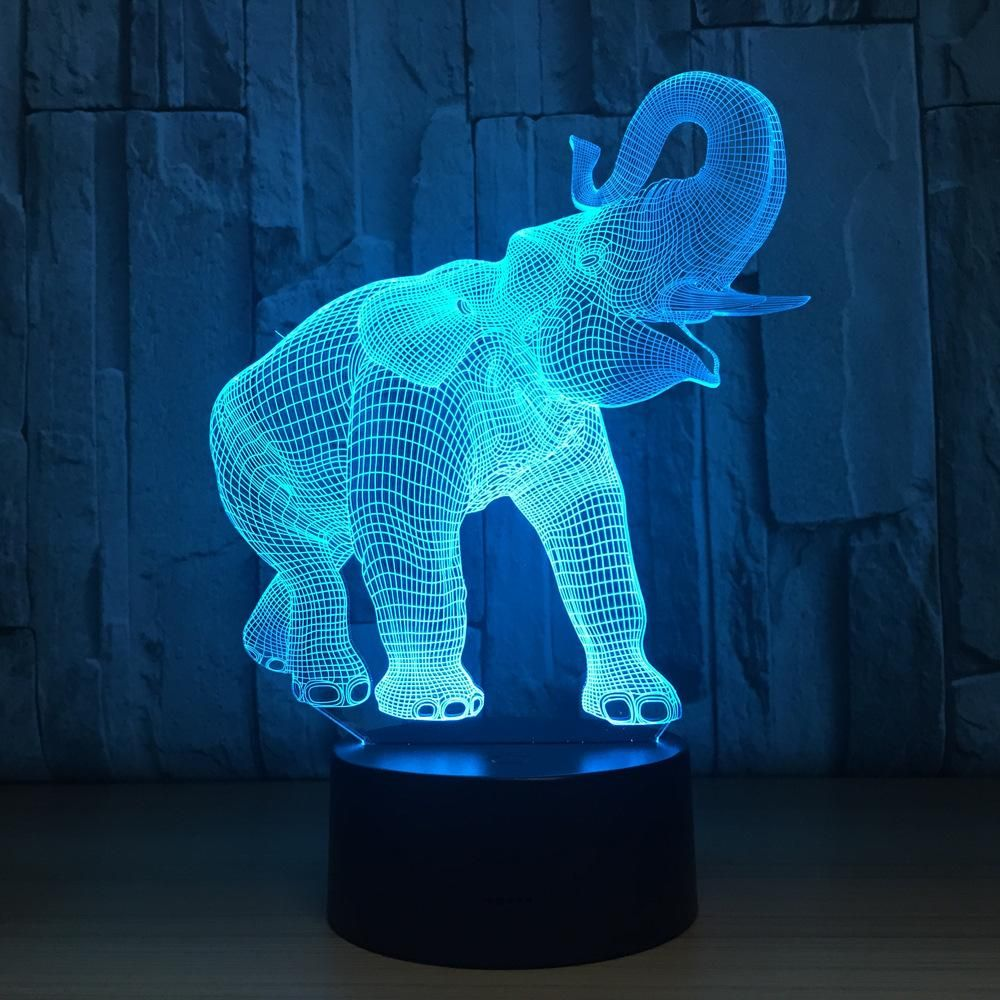 Elephant Touch 3d Optical Illusion Lamp Tween Girl Gifts Night Light Weird Gifts