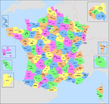 Departments of France - Wikipedia, the free encyclopedia