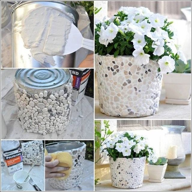 DIY Bucket To Pebble Planter # #Musely #Tip