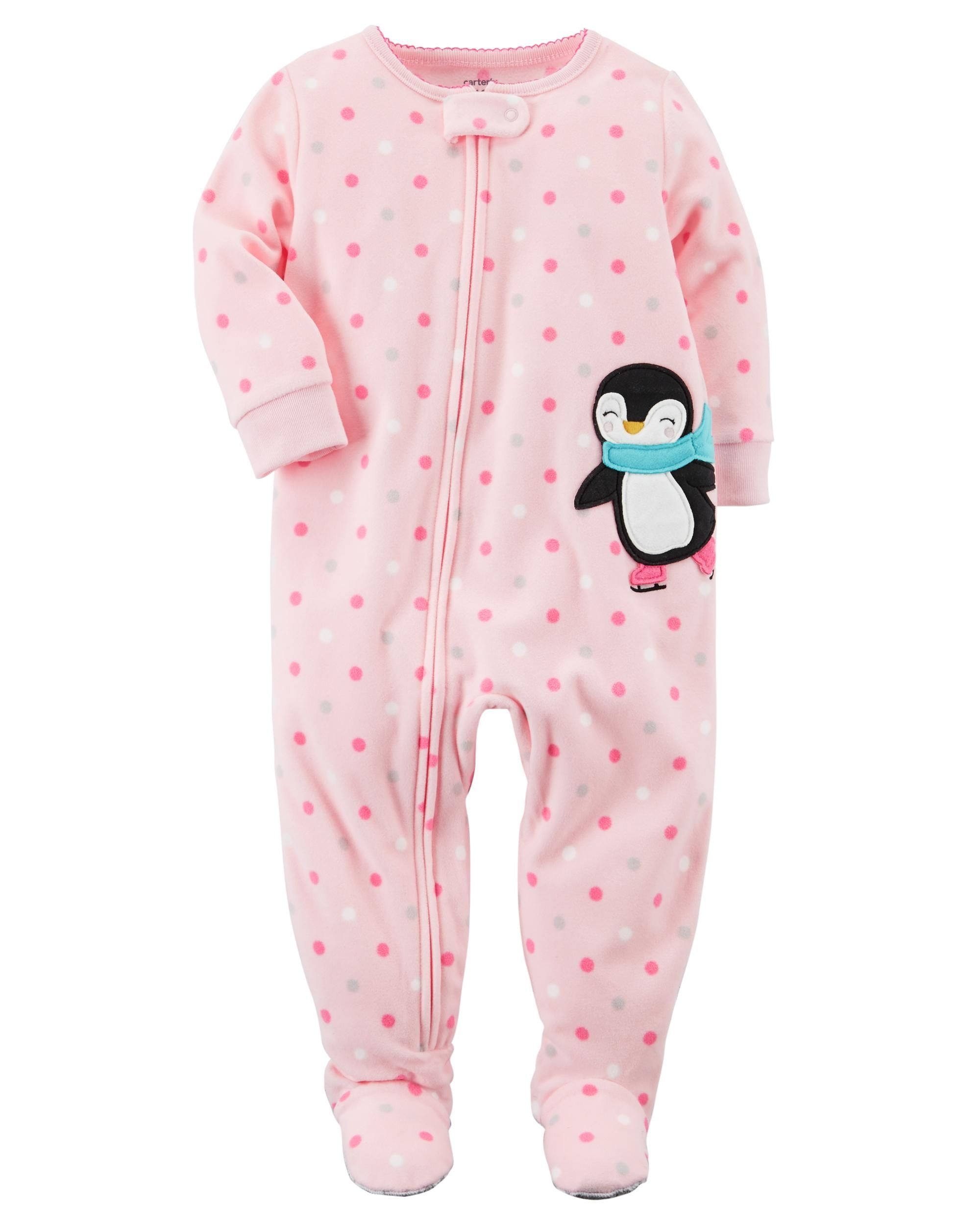 a3409b073 1-Piece Penguin Fleece PJs