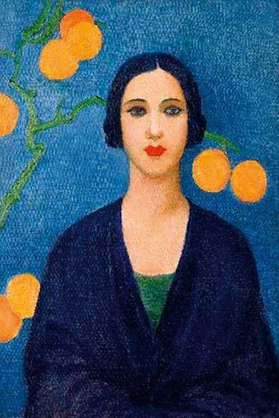 Figura Em Azul 1923 Tarsila Do Amaral Com Imagens Producao