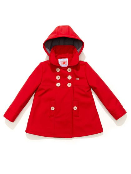 Peacoat with Detachable Hood by Little Pastilles at Gilt