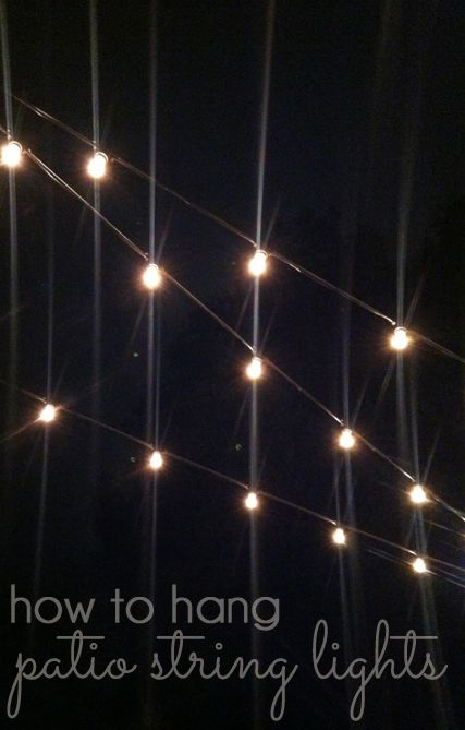 How to hang patio string lights hometalk funky junk present how to hang patio string lights commercial grade string lights are ideal for permanent installation aloadofball Images