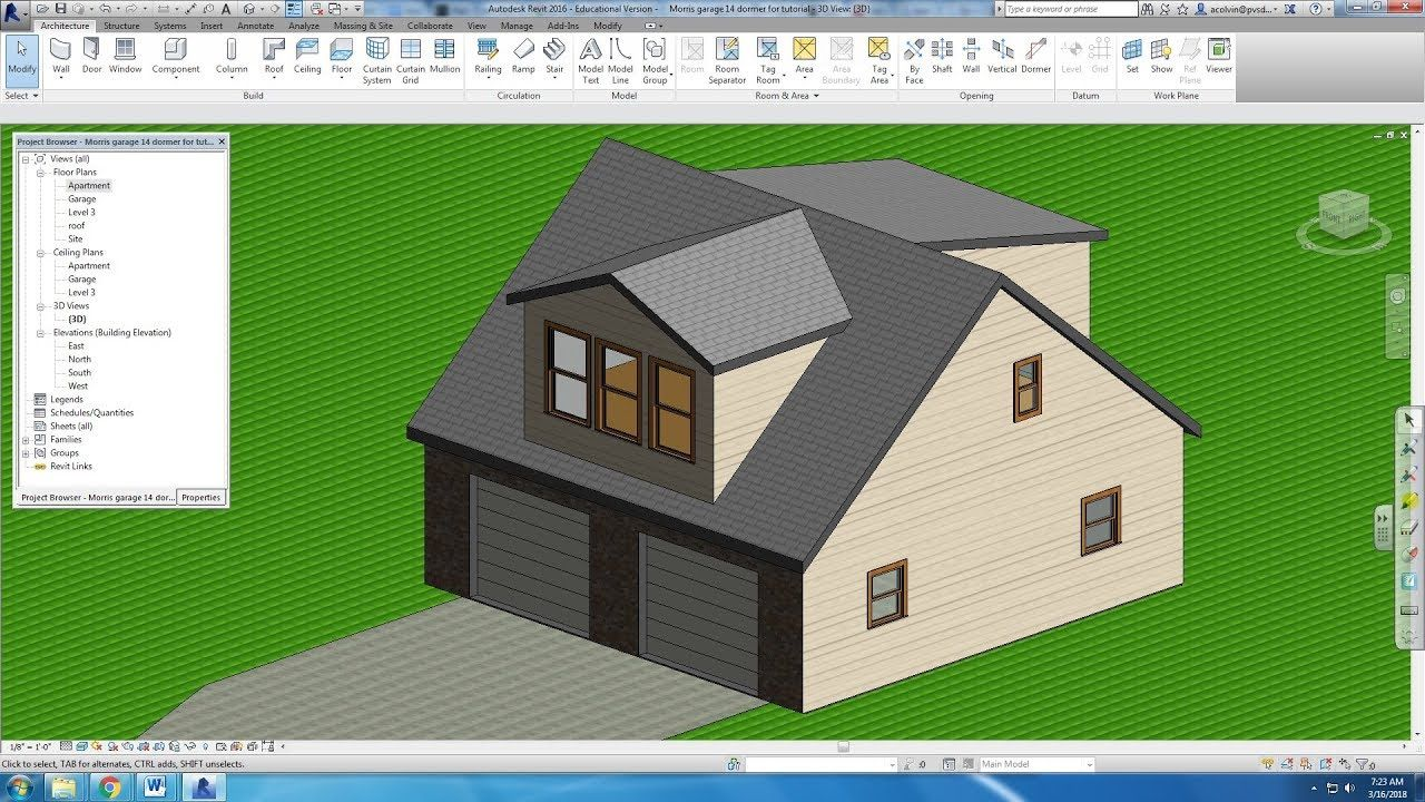 Drawing A Dormer In Revit Dormers Drawings Future House