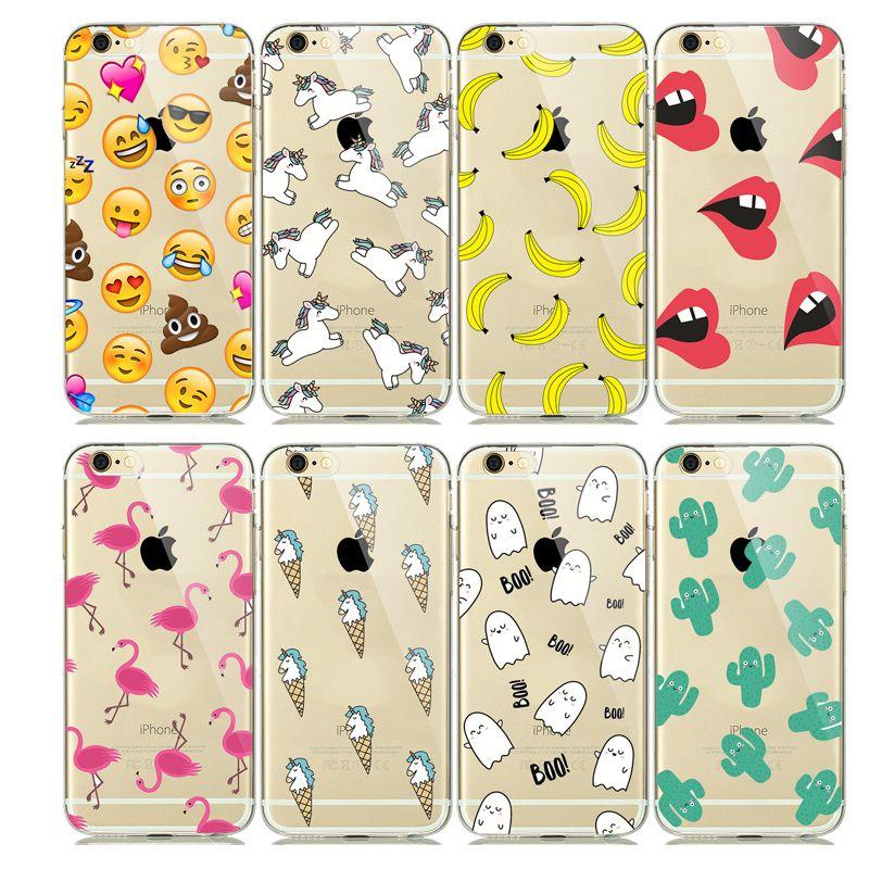 Cartoon tiere einhorn emoji case für capinhas iphone 7 plus 5 5se 6 ...