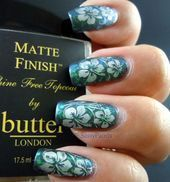 Photo of Flakie Flowers by SassyPaints Nail Art Gallery nagelgallerie.na by Nails M. – …