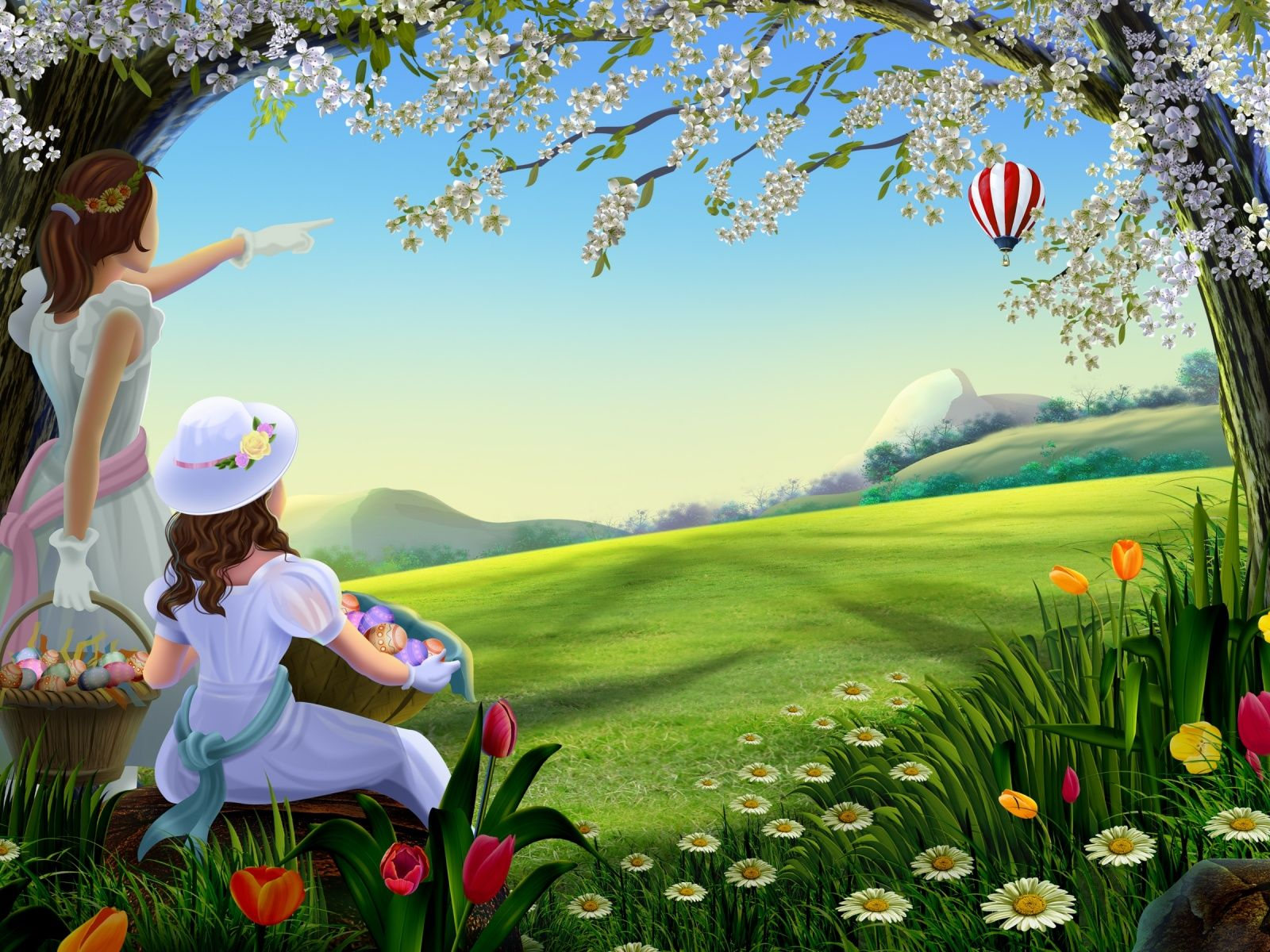 Beautiful Spring Painting WallpaperHd