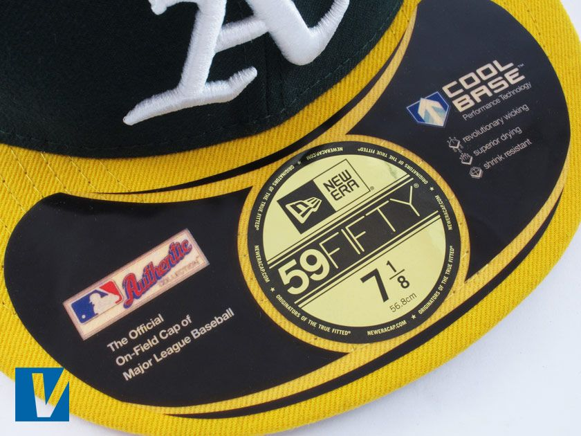 Please take a close up photograph of the visor sticker which indicates the cap style and