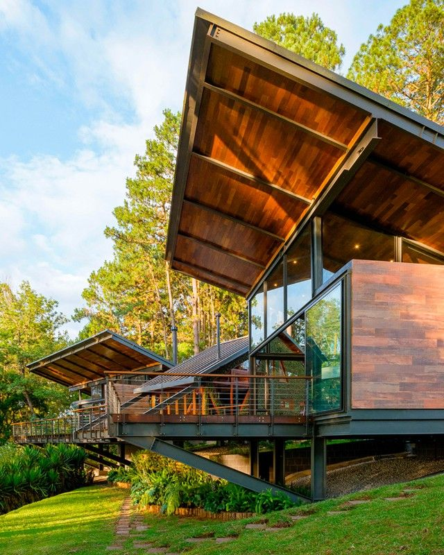 Guatemala A Cantilivered Dwelling Immersed In The Natural Landscape