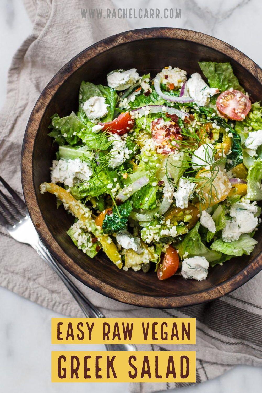 Easy Raw Vegan Greek Salad