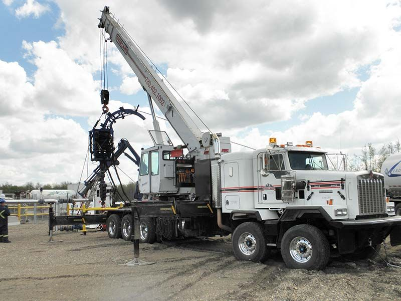 Oilfield trucks equipment overland transport