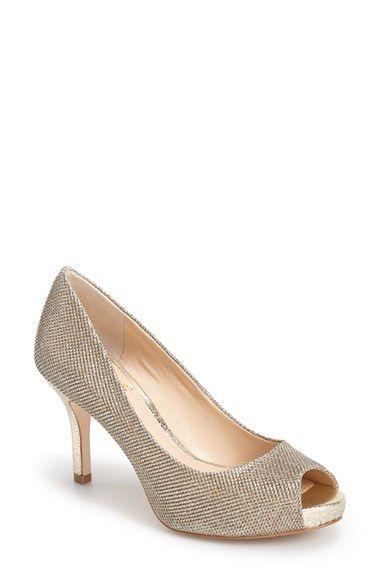 29293640de Gold or Nude... Bride or Bridesmaids. Vince+Camuto+'Kiley'+Peep+Toe +Platform+Pump+(Women)+available+at+#Nordstrom