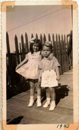 Vintage Antique Photograph Adorable Little Girl and Boy Wearing Great Outfits