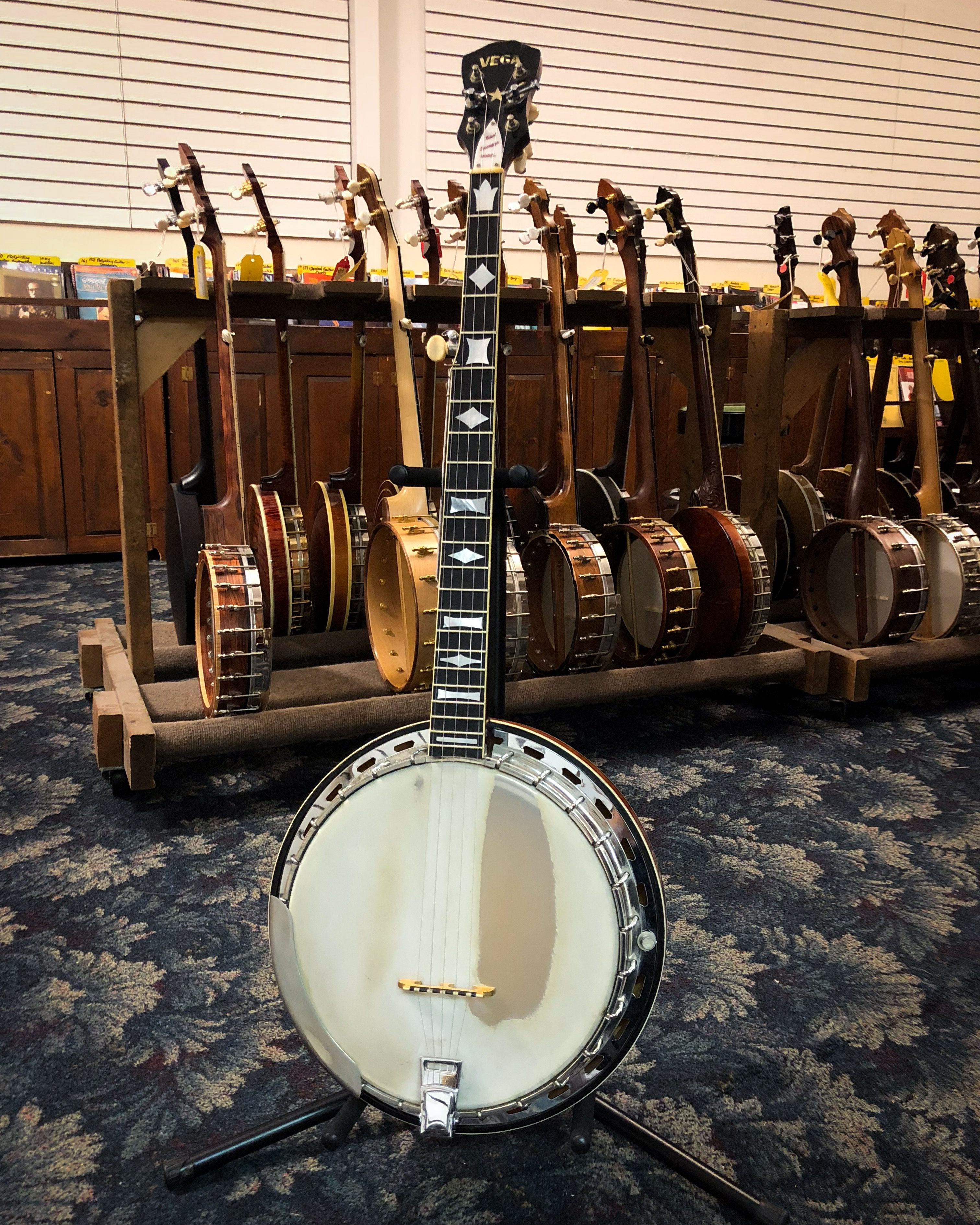This Vega Earl Scruggs STII banjo has been put to work, but
