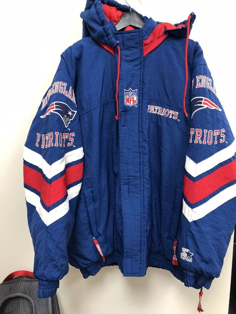 Vintage Starter NFL New England Patriots Winter Jacket Warm XL Free  Shipping  1673ad2c8