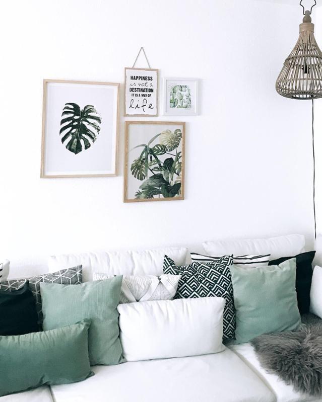 Farblich Abgestimmter Kissenmix Auf Dem Sofa Von Ida Wohnlich